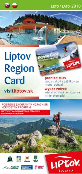 Guide to discounts with Liptov Region Card Summer 2018