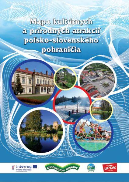 Mapa kultúrnych a prírodných atrakcií poľsko-slovenského pohraničia