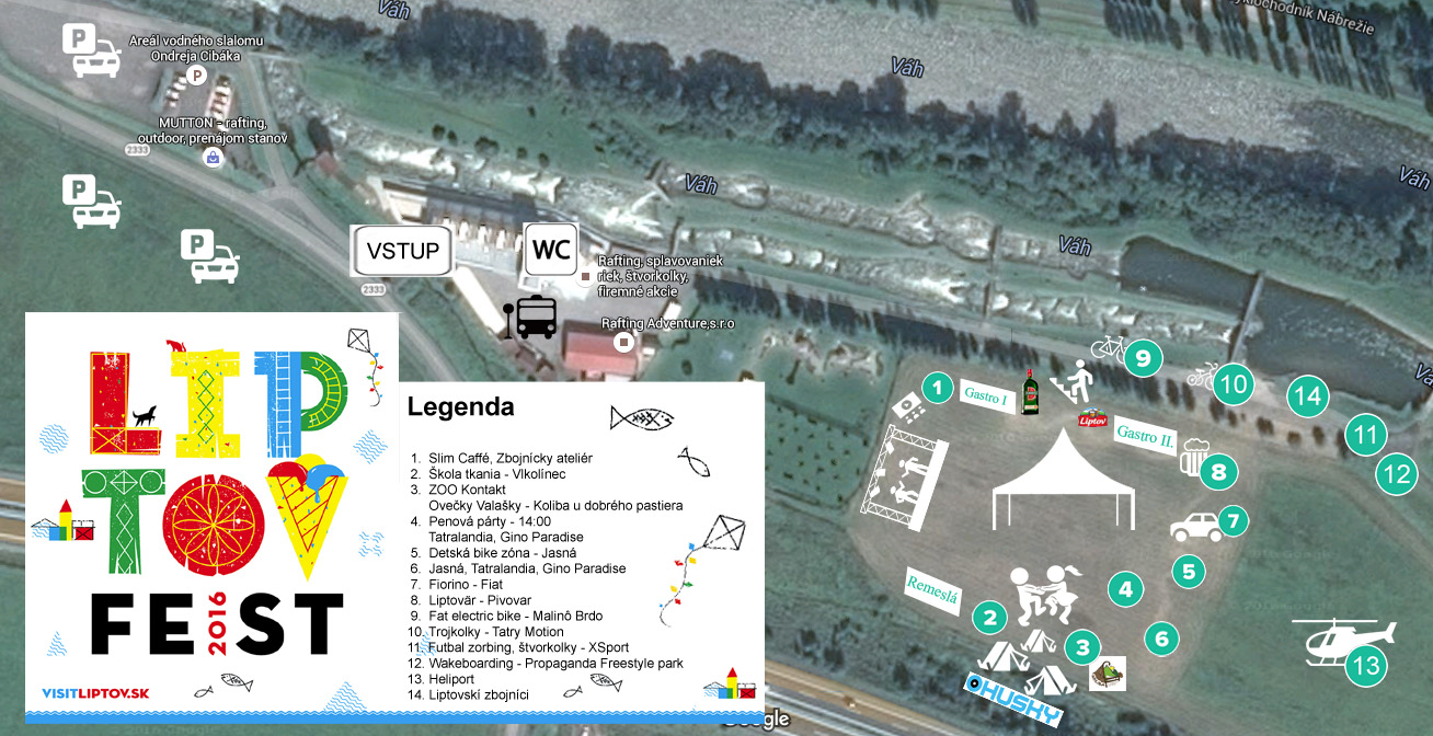 mapa liptovfest 2016