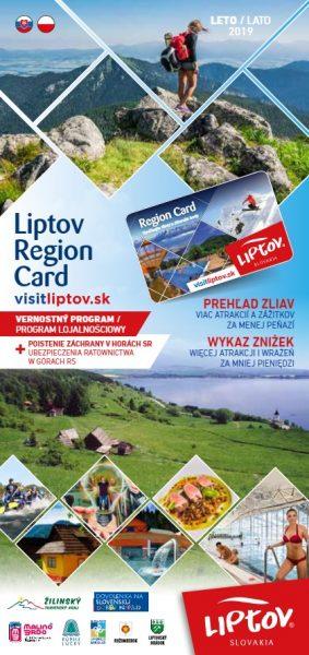 Przewodnik po Liptowe Liptov Region Card LETO 2018 SK – PL