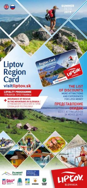 Guide to discounts with Liptov Region Card Summer 2019