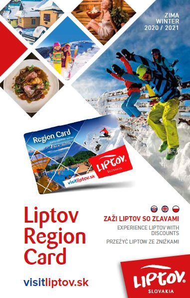 Overview of discounts with Liptov Region Card - WINTER  2020